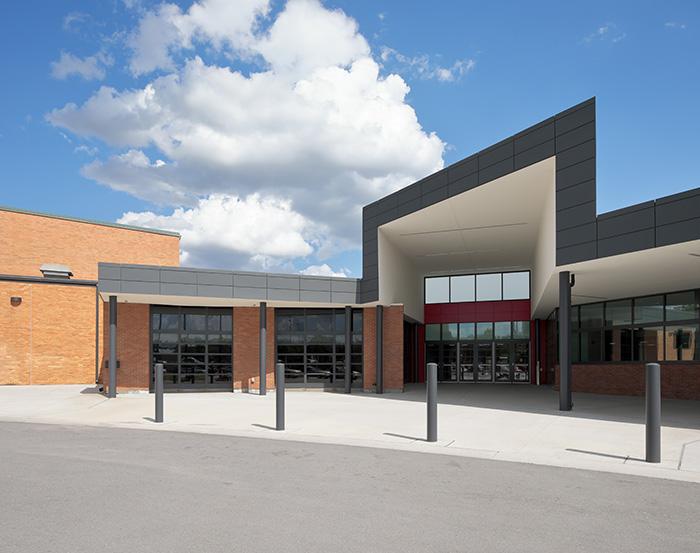 Lawrence High School entry adddition